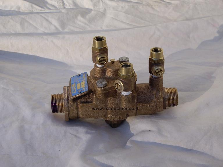 Reduced-Pressure-Zone-backflow-preventer-Watts-0465-Hametaher-Israel